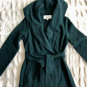 NWOT Anthropologie Wrapped Wool Sweater Coat, Med